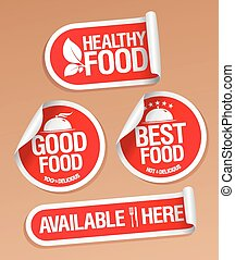 Healthy Food stickers.