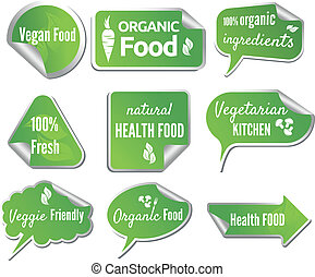 Healthy Food stickers set
