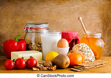 Healthy food - Still life composition with healthy food