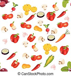 Healthy food vector background.