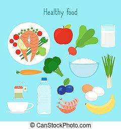 Healthy food vector illustration