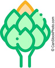 Healthy Food Vegetable Artichoke Vector Sign Icon