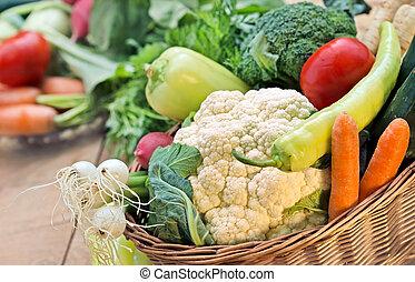 Healthy food - vegetables closeup