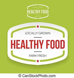 Healthy food vintage label
