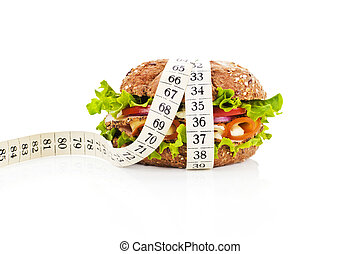 Healthy food, weight loss conceptual.