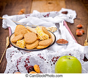 Healthy food - wholemeal cookies - biscuits