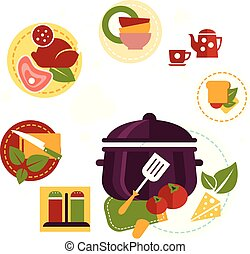 Healthy Fresh Food Depicting Cooking Process