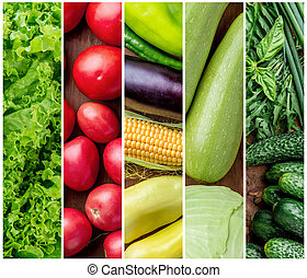 Healthy fresh vegetables background