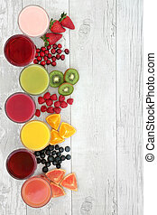 Healthy Fruit and Juice Drinks - Healthy fresh fruit and...