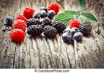 Healthy fruit - seasonal berry fruits