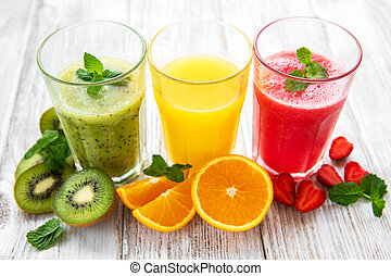 Healthy fruit smoothies
