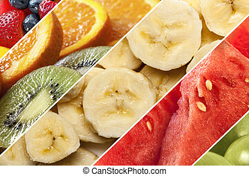 Healthy Fruits Collage