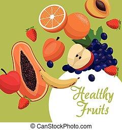 healthy fruits fresh food