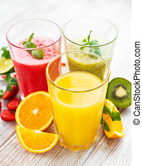 Healthy fruits smoothies