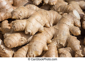Healthy ginger seen at the market