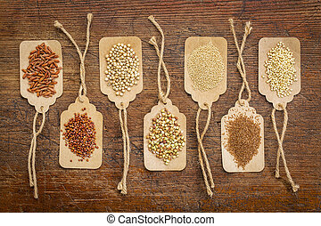 healthy, gluten free grains abstract