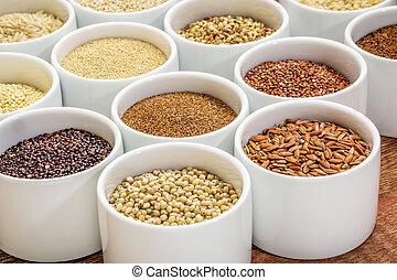 healthy, gluten free grains abstract - healthy, gluten free...