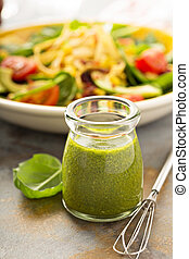 Healthy green goddess salad dressing