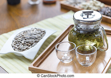 healthy green tea cup