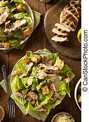 Healthy Grilled Chicken Caesar Salad