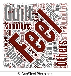 Healthy Guilt Unhealthy Guilt Word Cloud Concept Text Background