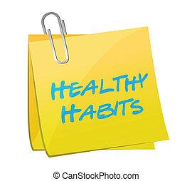 healthy habits post illustration design