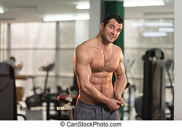 Healthy Hairy Man With Six Pack