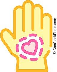 healthy hand skin color icon vector illustration