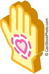 healthy hand skin isometric icon vector illustration