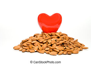Healthy Heart - A heart surrounded by cholesterol busting...