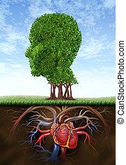 Healthy Heart And Mind - Healthy heart and mind with a tree...