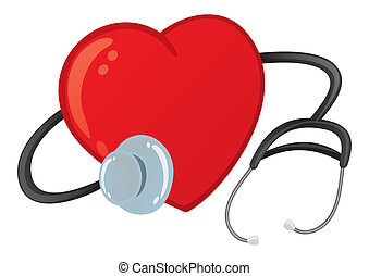 Heart checkup magnifying glass on an ecg diagram eps8 vector healthy heart ccuart Images