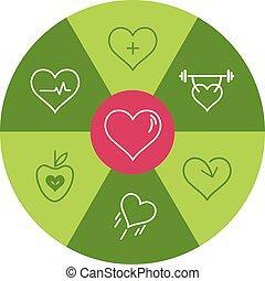 Healthy Heart Icon Wheel