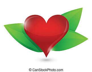 healthy heart illustration design concept