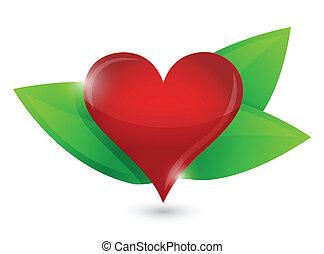 healthy heart illustration design concept