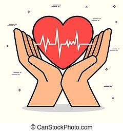healthy heart lifestyle concept  design