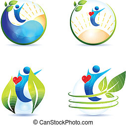 Healthy heart, lifestyle - Healthy lifestyle symbol...