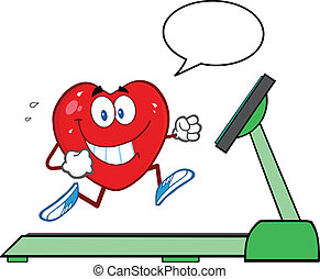 Healthy Heart Running On A Treadmil