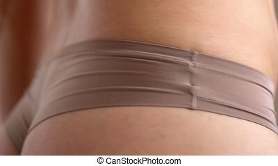 Healthy hips with measuring tape - Measure the female hips...