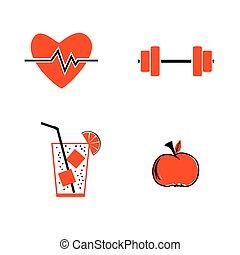 healthy icon vector
