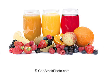 Healthy juice and fruit