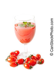 Healthy  juice for good health,tomato juice in glass