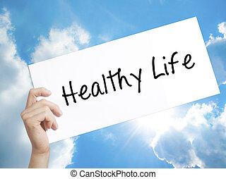 Healthy Life black marker on visual screen