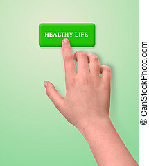 healthy life button