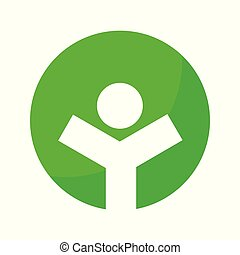 Healthy Life Green Circle Symbol Graphic Design