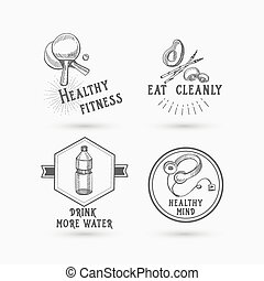 Healthy life, icon design.