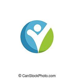 Healthy Life people Logo