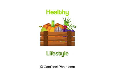 healthy life style vegan food in wooden basket
