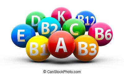 Healthy life - vitamins - Balance of vitamins - healthy life...