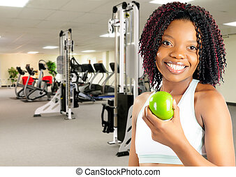Healthy Lifestyle - African American Young Woman Enjoying A ...